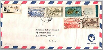 GP GOLDPATH: NEW HEBRIDES COVER 1965 REGISTERED LETTER AIR MAIL _CV674_P14
