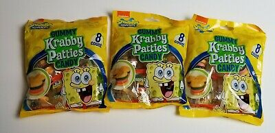 Gummy Krabby Patty (Sponge Bob Square Pants Gummy  Krabby Patties  Candy 3 Packs)
