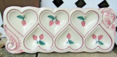 HARTSTONE POTTERY Shortbread Cookie Mold decorated with strawberries