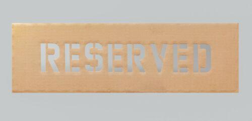 8 inch RESERVED Stencil cardboard
