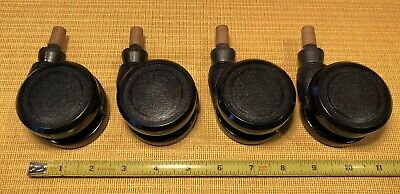 Qty 4 Vintage Bassick Mid Century Modern Industrial Rollers Casters