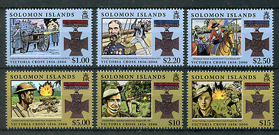 Solomon Isl 2006 MNH Victoria Cross 150th Anniv 6v Set Military Medals Stamps