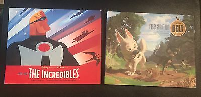 The Art of the Incredibles & The Art of Bolt, Disney Pixar 2 Book Lot, Hardcover