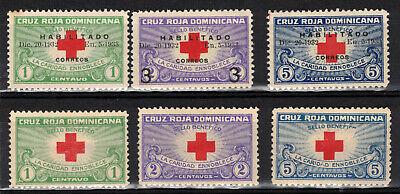 DOMINICAN REPUBLIC Scott 265B-D MH & w/o overprints MNG ## 1 cent start ##