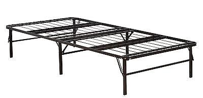 Twin Size Metal Bi-Fold Folding Platform Bed Frame Base Mattress Foundation New