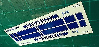 1977 Mustang II Cobra Decal set 1:25 Scale Blue BIN30