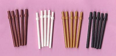 LEGO FLAG POLES 5x ~ FIVE Pole Sticks Bar w/Stop Ring Black White Brown Gold - 5 Five Golden Rings