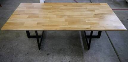 New Skove Industrial Timber Scandi Metal Lounge Coffee Tables