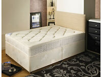 **14-DAY MONEY BACK GUARANTEE!**- Kingsize Deep Quilted Bed and Mattress - SAME/NEXT DAY DELIVERY!