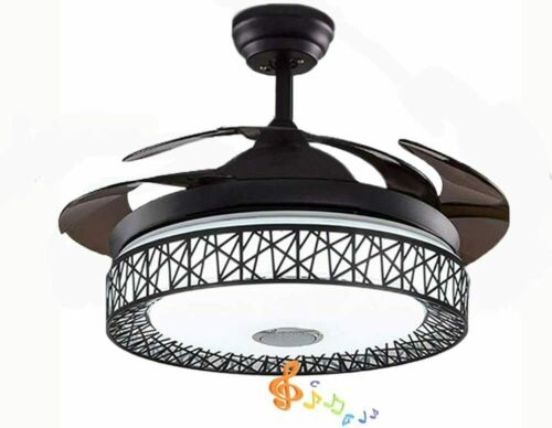 """42""""Invisible Bluetooth Ceiling Fan Light Home Remote Music"""