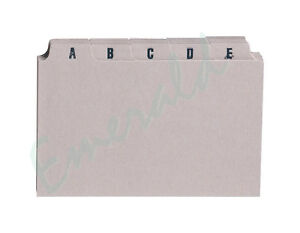A-Z-Index-Record-Guide-Cards-Size-5-x-3-127-x-76-Same-Day-Dispatch