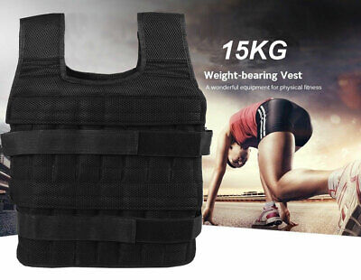 30Ibs Weighted Weight Vest Adjustable Training Fitness Worko