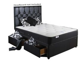 Backcare bed complete set with memory foam mattress and 4 drawers (Small Double)