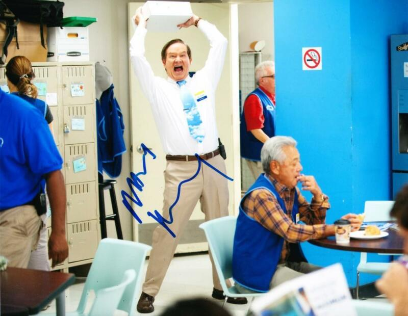 MARK MCKINNEY SIGNED 8X10 PHOTO AUTHENTIC AUTOGRAPH NBC SUPERSTORE COA A