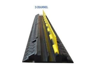 2-Cable Rubber Vehicle Electrical Wire Cover Ramp Protector 190260
