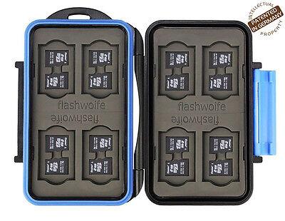 """wasserdichte Schutzbox für 16 Micro SD Speicherkarten MSD16 -Flashwoife""""Turtle"""""""