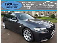 BMW 5 SERIES 520D M SPORT TOURING (grey) 2011