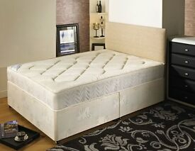 **7-DAY MONEY BACK GUARANTEE!**- Kingsize Bed w/ 10inch Dual-Sided Semi Orthopaedic Mattress RRP£339