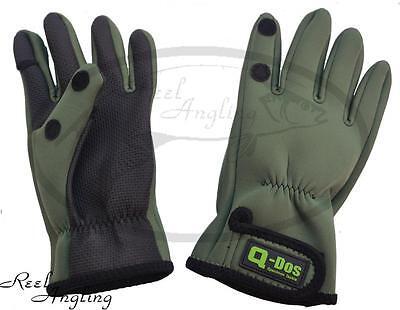 Neoprene Winter Gloves Carp Sea Coarse Fishing Hunting Shooting med / Large