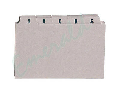 """A-Z Index Record Guide Cards Size 8"""" x 5"""" 203 x 127 Same Day Dispatch"""