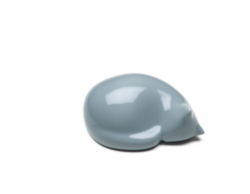 Authentic & New Vitra Resting Cat in Light Blue, Small