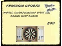 World Champ Home Cabinet Set with 6 Darts Brand New Boxed REDUCED £30