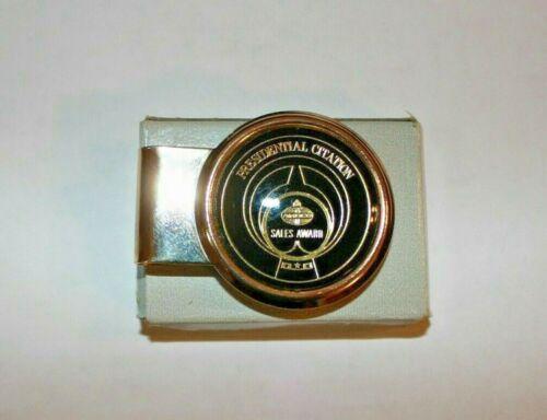 Vintage Amoco Oil Presidential Sales Award Money Clip NOS Original Box