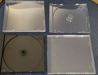 Lot Of 60 Standard Cd Jewel Cases With Trays - 50 10 Extra 60