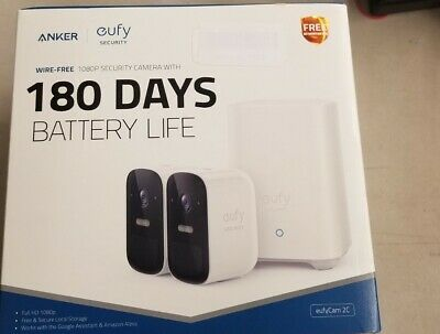 EufyCam 2C 2-Cam Kit, 1080P  Home Security System with 180-Days Battery Life