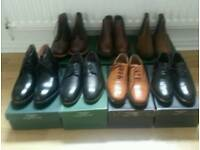 Goodyear welted leather shoes. SIZE 9. - 7 pairs in total - Starting at £27.50 pp