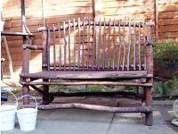 Quirky Wooden Designed Garden Bench