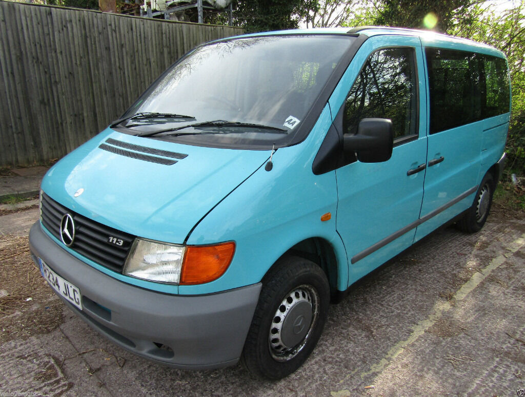 1998 MERCEDES VITO 113 TURQUOISE PETROL MANUAL WHEELCHAIR LIFT AND 4 SEATS | in Pelsall, West ...