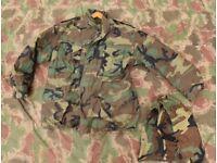 Genuine Vintage US Army Woodland M65 Field Jacket + Quilted Liner + HOOD