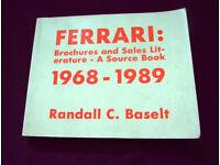 Ferrari sales brochure book
