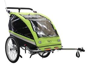 NEW Cycle Force C23 Double Child 3-in-1 Bicycle Trailer, Jogger, Stroller
