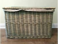 Large wicker basket fully lined 60cm x 38cm
