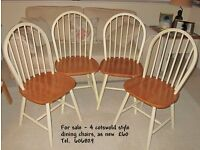 As new dining chairs for sale.