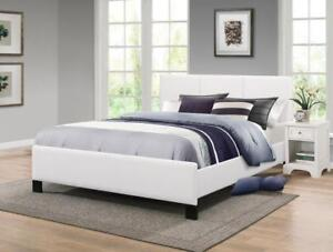 WHITE BED - BEST SELECTION OF PLATFORM BEDS ON OUR WEBSITE- WWW.KITCHENANDCOUCH.COM (IF102)