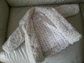 Girls coat size 12 to 18 month