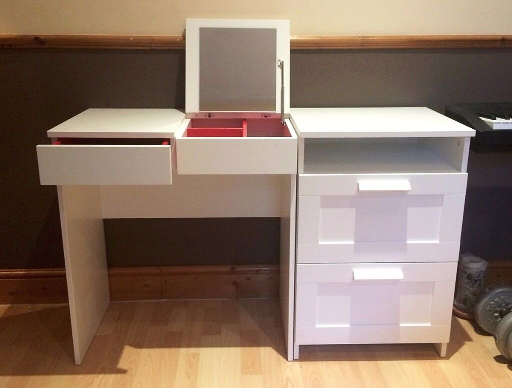 Ikea brimnes dressing table chest of 2 drawers in walthamstow london - Ikea simulation dressing ...