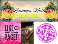 Acrylic Nails (half price)