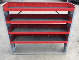 Van Racking / Shelving - BOTT - 4 Shelves - Good Condition - Includes Original Brackets