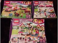 Lego Friends 3 sets Boxed with Manuals swimming pool, Dog Groomers & Campervan