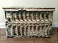 Large wicker basket fully lined 60cm x 38cm