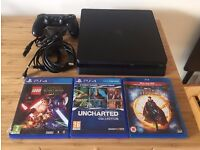 Sony PS4 Slim 500GB + Lego Star Wars, Uncharted Collection, Doctor Strange. Playstation 4