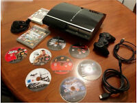 Sony Playstation3 [PS3] 40 Gb / controller, HDMI, USB and power cable + 15 best selling videogames