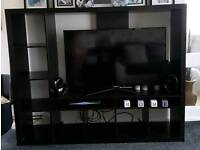 Tv stand with dvd shelfing