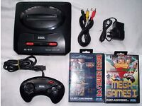 Sega megadrive 2 mega drive 2 with controller, leads and six games on 2 cartridges!!!