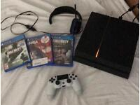 PlayStation 4 with 8 games and 12 months online ps plus
