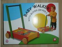 PinToy BABY WALKER with BLOCKS (24 pieces)